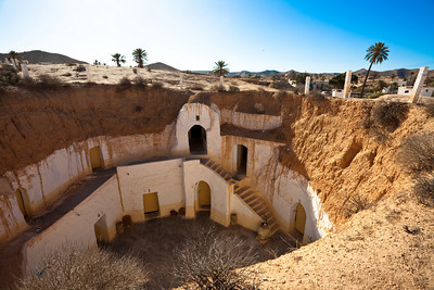 Burried house from Matmata, Tunisia.