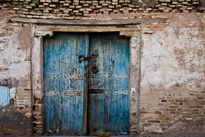 Old wooden door from Tozeur, Tunisia.