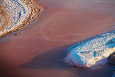 Salty ground from the Chott El Jerid, Tunisia.