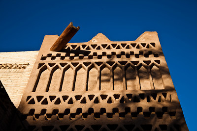 Detail from mud architecture pattern, Tozeur, Tunisia.