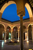 Patio of the Dar Cherait palace, Tozeur, Tunisia.