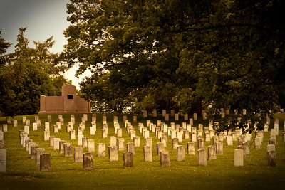 Graves from the Civil War, Gettysburg, United States of America.