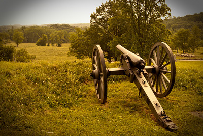 Guns from the Civil War, Gettysburg, United States of America.