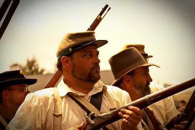 Re-enactors from the Civil War, Gettysburg, United States of America.