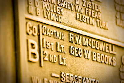 Name from the Civil War, Gettysburg, United States of America.