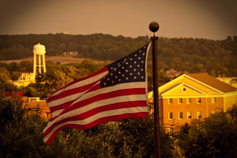 The American flag, Gettysburg, United States of America.