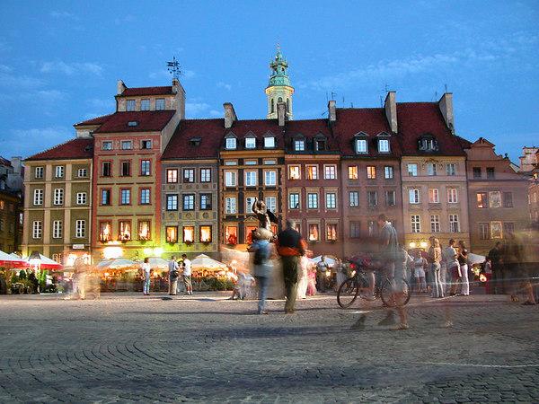 Market place, Warsaw, Poland