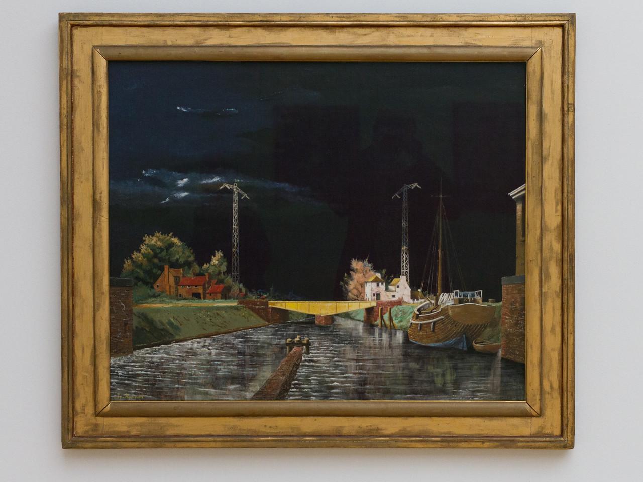 Franz Radziwill (1895-1983): Kanal mit gelber Brücke, 1928