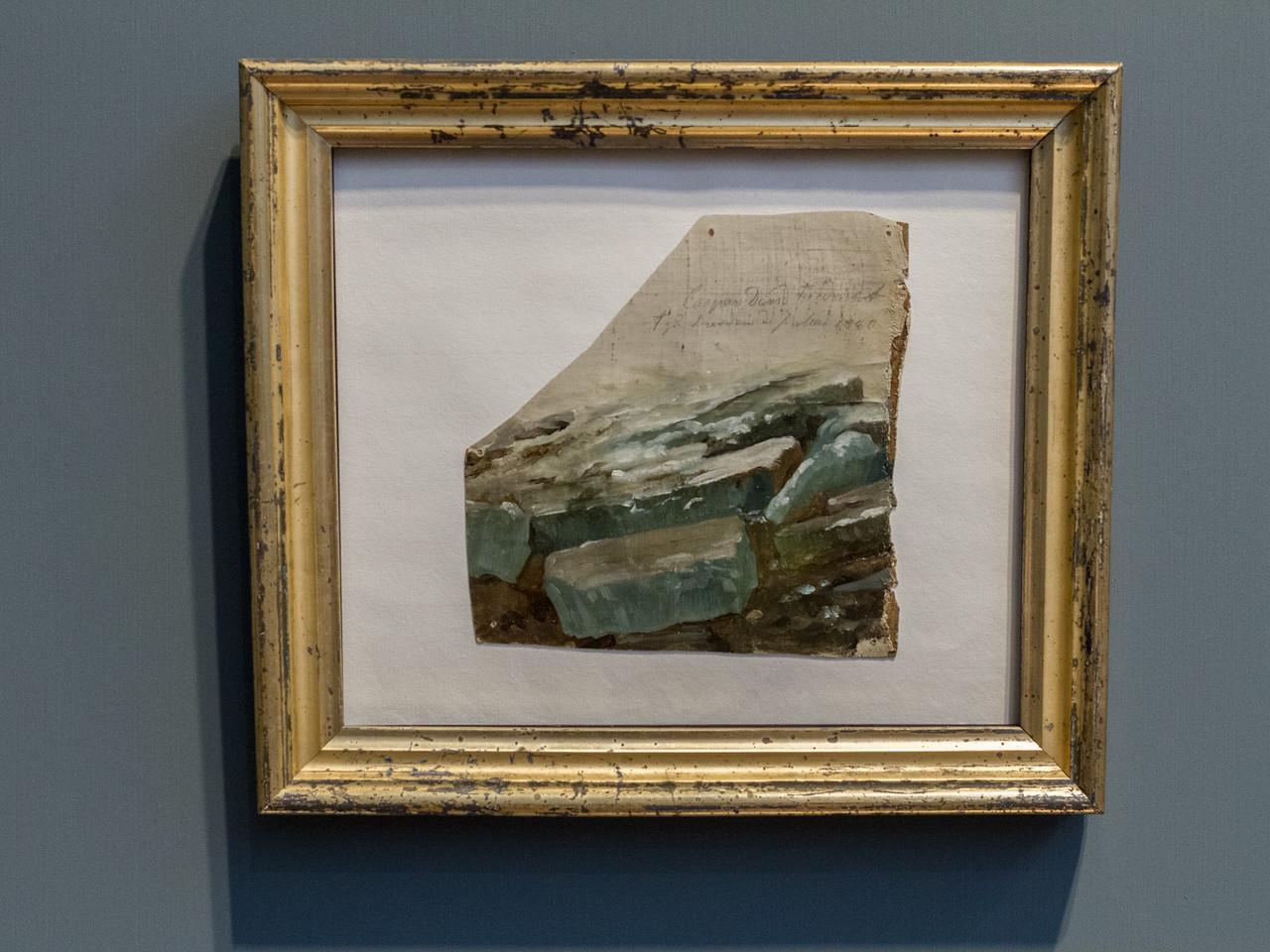 Caspar David Friedrich (1774-1840): Eisschollen (Drei Ölskizzen zum Eisgand auf der Elbe), 1820/21