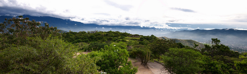 View towards Oaxaca from Monte Alban Visitor Center