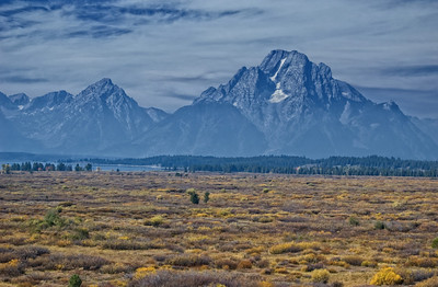 """From The Plains to The Mountains""  This was shot from the observation deck of the Jackson Lake Lodge in the Grand Teton National Park.  This is a great place for a rest room break, but also bring your camera with you for some expansive scenes."