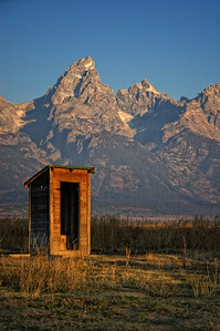 """Sunrise View And Time For A Break""  this was shot at the Mormon Row Historic District near Jackson, Wyoming."