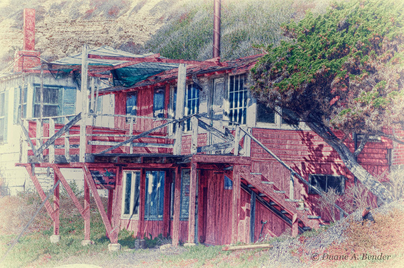 """February 6, 2011 - """"The Red Beach House""""<br /> <br /> Like this old house, I have had better days than yesterday.  I manged to slip on some ice in a parking lot and hit the back of my head.  After a few hours in the ER, I am back home and okay. Crystal Cove"""