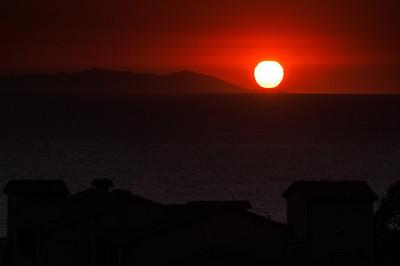 "sunset over Catalina Island  ""26 Miles (Santa Catalina)"" 'Twenty- six miles across the sea Santa Catalina is a-waitin' for me Santa Catalina, the island of romance, romance, romance, romance ....'"