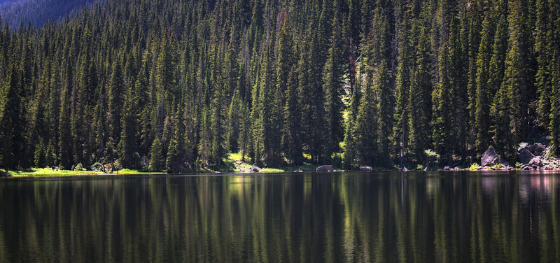 """Beaver Lake""<br /> <br /> This is a 4 shot stitched pano of Beaver Lake in Colorado. The lake is at 9746 ft. and accessible with a 6 mile round trip hike including a 1500 ft. elevation gain."