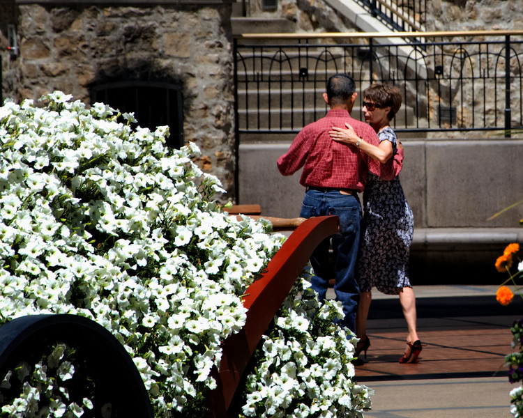 """""""Dancing The 'Day' Away""""<br /> <br /> This was shot on an August Sunday afternoon at the Lionshead Village Center in Vail, Colorado.  It was a beautiful bright sunny day and live music that this couple was enjoying.  They were also very good dancers."""