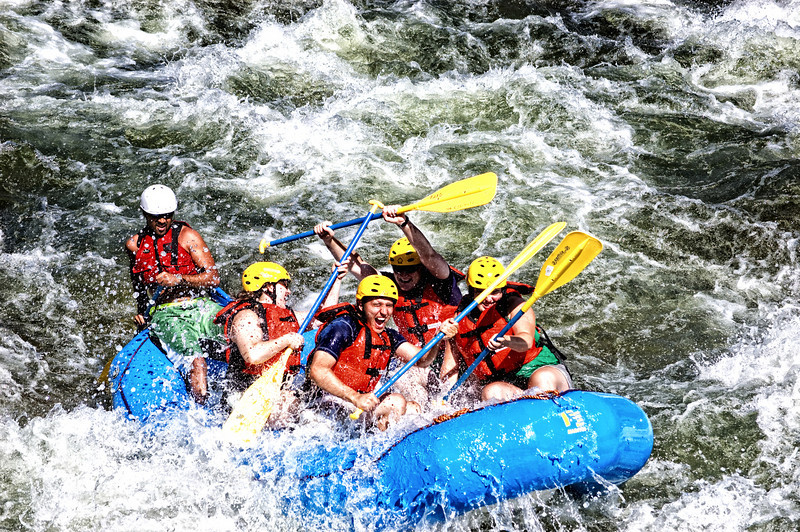 """""""Rafting The Arkansas""""<br /> <br /> On our summer treks to Colorado, we have a favotie spot to stop and take photos of the whitewater rafters. This was shot along the Arkansas River in Colorado."""