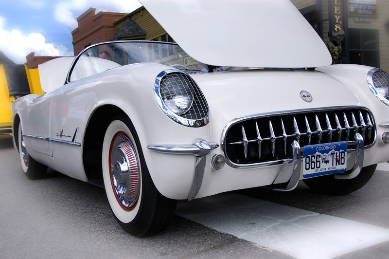 """""""53-55 Vette""""<br /> <br /> This '53-'55? is one of more than 600 Corvettes at the 36th Annual Show  'VETTES ON THE ROCKIES' in Frisco, Colorado.  Photography was a real challenge with a large crowd enjoying the show.  It was hard to get a photo that captured the scale of the event.  My shots from the event are in the following gallery."""