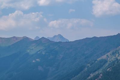 Maroon Bells Viewed From Aspem Mountain