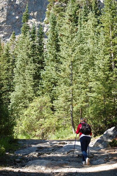 Judy on the McCulloch Gulch trail