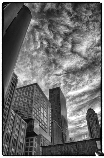 """Moving Clouds""<br /> <br /> This the first photo that I took on the trip to Chicago when we walked to Gino's for pizza."