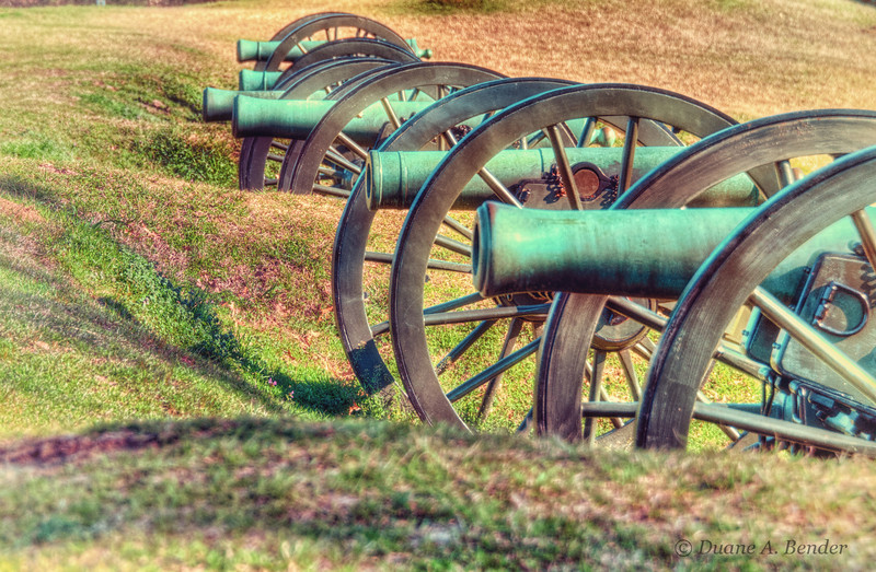 """February 20, 2012 - """"Cannon Battery""""<br /> <br /> This was photographed early morning last week at Vicksburg National Military Park.  This position included the guns of the 8th Michigan Artillery that fired on the Confederate Great Redoubt directly ahead.  At one time as many as 22 Federal artillery pieces where positioned here.<br /> <br /> My gallery of images from the Vicksburg National Military Park can viewed at<br /> <br /> <a href=""""http://www.dakotacowboyphotography.com/Travel-USA/Missisippi/Vicksburg-National/21556094_rfMng9#!i=1719031907&k=QFRqwKQ"""">http://www.dakotacowboyphotography.com/Travel-USA/Missisippi/Vicksburg-National/21556094_rfMng9#!i=1719031907&k=QFRqwKQ</a>"""