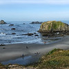 in camera pano of Bandon Beach - 36 minutes after sunrise