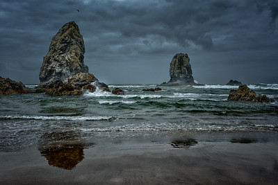 Sea Stacks And Surf