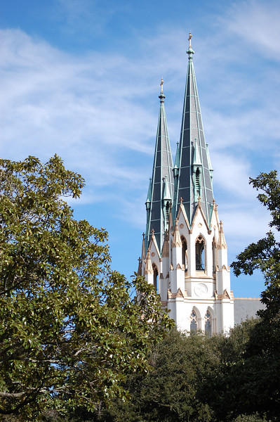 Cathedrial of St. John the Baptist Steeple, circa 1779 - <br /> A crisp 40 degree January morning