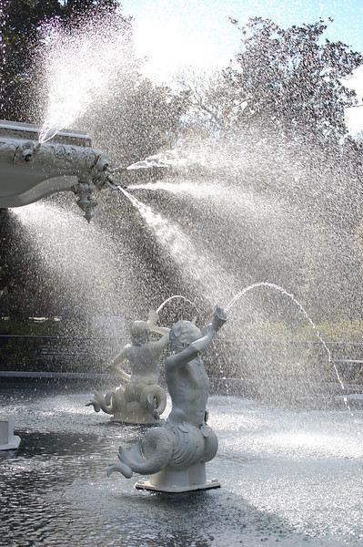 Forsyth Park Fountain - 1853, restored 1988A cold 40 degree January Day
