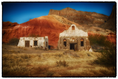 """Colors Along the Rio Grande""  The rich late afternoon sun helped bring out the colors of the Contrabando Ghost town in Big Bend Ranch State Park, Texas."