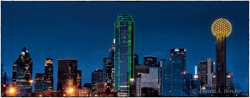 """February 5, 2012 - """"Dallas Skyline""""<br /> <br /> This was shot last night at a Dallas SMUG (SmugMug User Group) photo shoot.<br /> <br /> (full screen viewing recommended)"""
