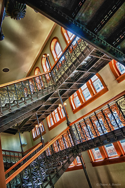 """February 24, 2011 - """"A Grand Staircase""""<br /> <br /> The grand staircase at the Dallas Old Red Courthouse has been completely restored to its original appearance."""