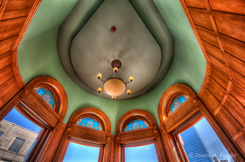 "February 23, 2012 - ""Looking Up""<br /> <br /> Our walkabout group shot the Dallas Old Red Courthouse (circa 1892) yesterday.  This inside of one of many turrets is in the beautifully restored building that is now a museum with still usable old courtrooms.<br /> <br /> i shot the exterior from afar a few weeks ago while on a Dallas Skyline shoot.<br /> <br /> <a href=""http://www.dakotacowboyphotography.com/Daily-Photos/Daily-Photos-2012/20830739_SVdBc5#!i=1700982471&k=mBLCtL5"">http://www.dakotacowboyphotography.com/Daily-Photos/Daily-Photos-2012/20830739_SVdBc5#!i=1700982471&k=mBLCtL5</a>"