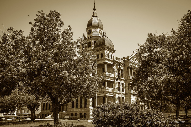 The Denton County Courthouse was built between 1895 and 1897.
