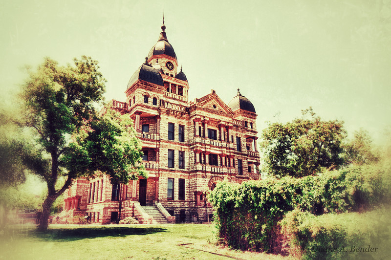 """April 22, 2012 - """"The Courthouse""""<br /> <br /> We did a walkabout at Denton, Texas last week.  The Denton County Courthouse was built between 1895 and 1897."""