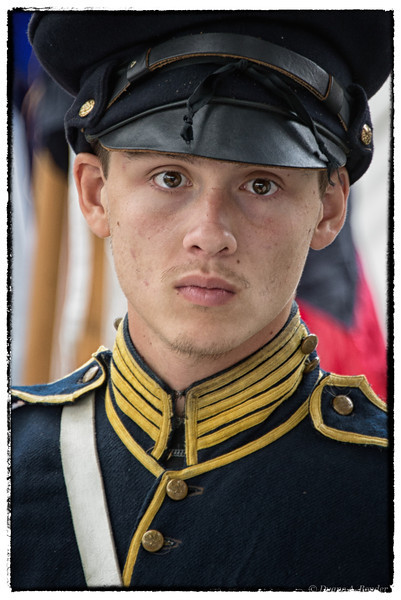 """March 14, 2013 - """"Homesick""""<br /> <br /> This young soldier is a reenactor at Frontier Forts Days in Ft. Worth."""