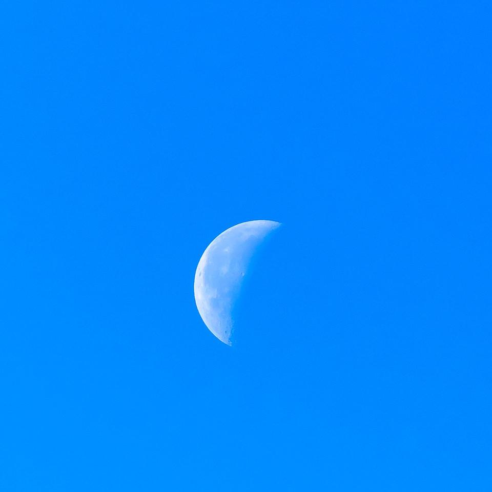 Mid Morning Moon