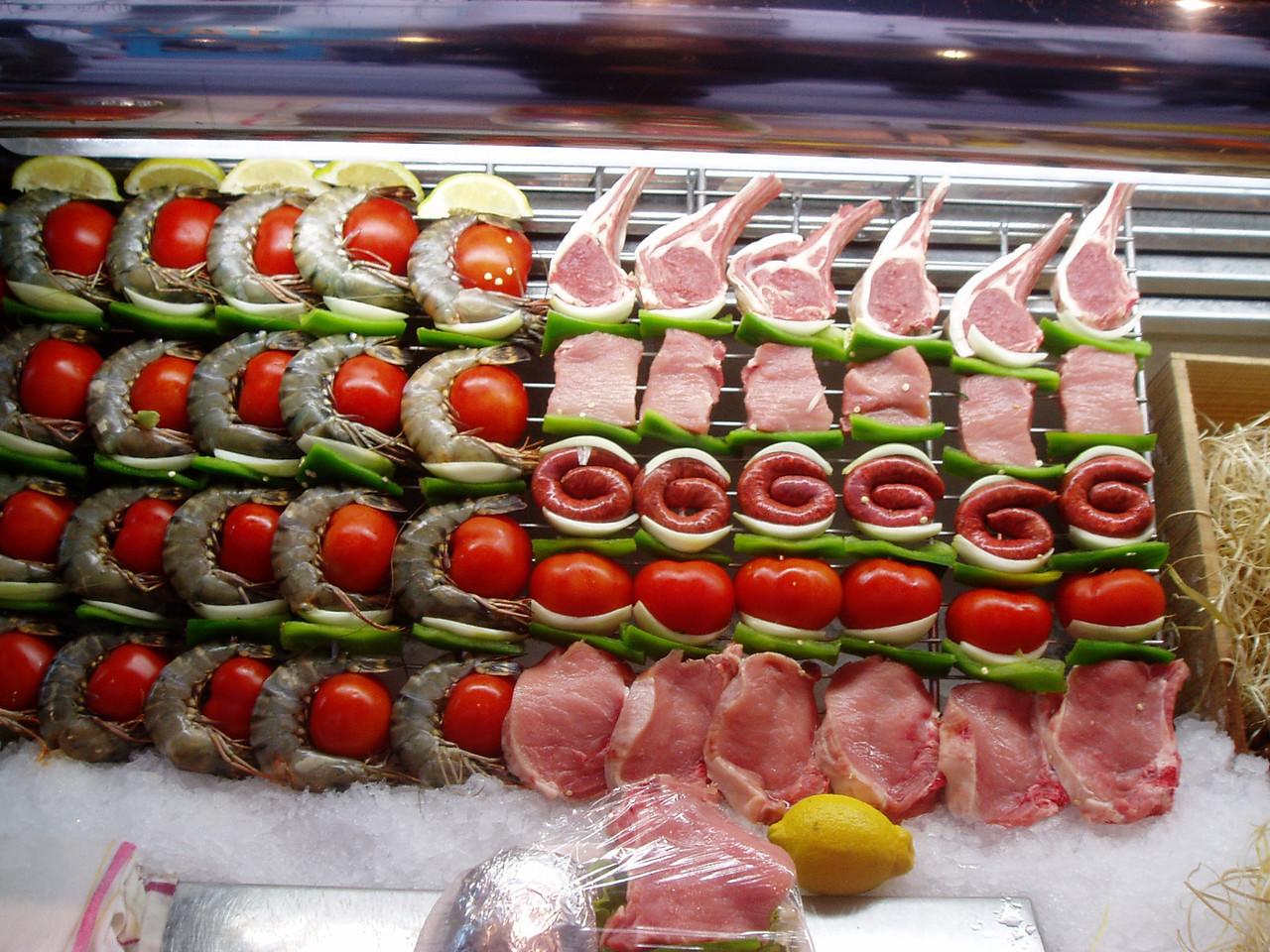 Foods being sold in Latin Quarter  Paris