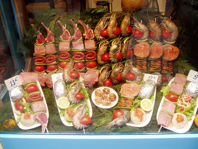 Foods being sold in Latin Quarter  Paris
