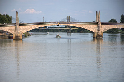 "August 21, 2010 - ""Sunday On The Saone""  The Pont St-Laurent Bridge was shot from our river boat while in Chalon, France."