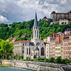 "April 19, 2012 - ""City Of Lyon""<br /> <br /> - riverfront in France,  from my ""Streets Of The Rhone Alps Region"" series"