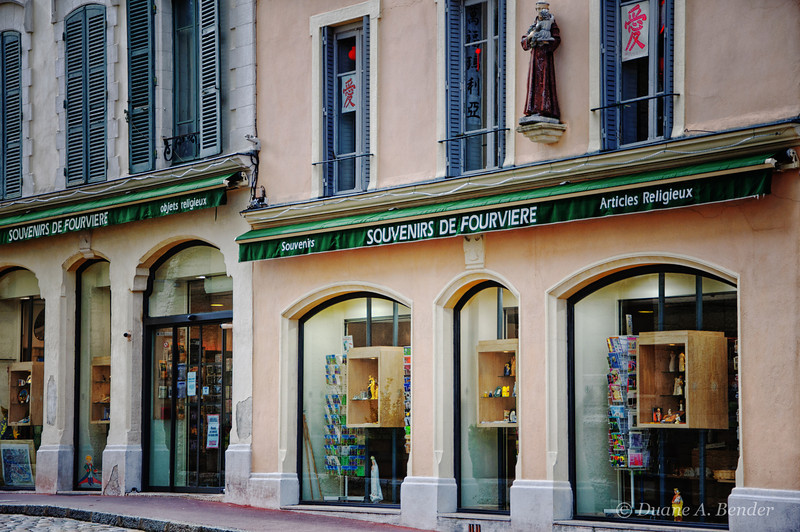 """April 18, 2012 - """"Quiescent""""<br /> <br /> Storefronts in France from my """"Streets Of The Rhone Alps Region""""  series."""