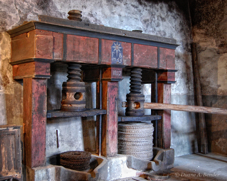 "January 1, 2011 - ""Pressing Through The Years""<br /> <br /> I am pressing forward with my third year of posting daily photos (almost daily) for 2011.  <br /> <br /> This ancient Olive Press was photographed in Italy."