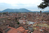 View from top of tower Lucca, Italy