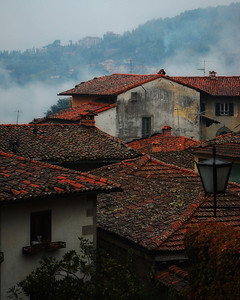 """Rain And Fog In Barga""  This was shot in October in Barga, Italy."