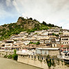 There are some heritage towns from before the communists took over. This is Berat and it was built by the Ottomans who used to control Albania, before King Zog came along.  It's very old and has been preserved really well