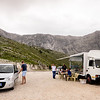 Then we went to the beach and to get there you have to drive over the mountains.  This is just after cross the Llongaraja Pass where we had a very nice roasted lamb lunch