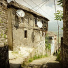 This is an alley in another old town called Gjirokastra