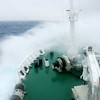 The sea begins.  The Drake Passage is often a little rough